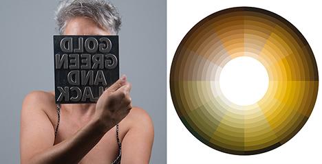 Uqui Permui, Compostela, ouro, verde e negro, roda cromática