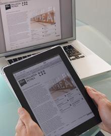Mostra dunha web en diferentes dispositivos