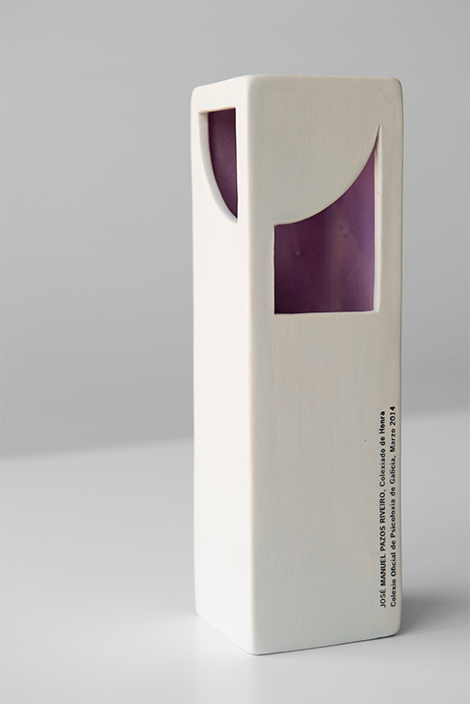 Peza honorífica de cerámica para o COPG, por Uqui.net
