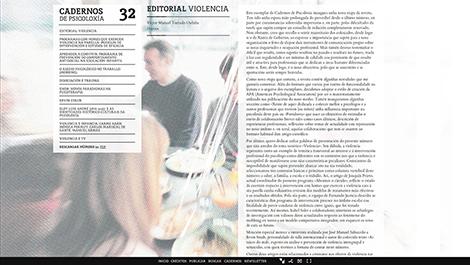 Web de Cadernos de Psicoloxía, por Uqui.net