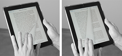 Publicación dixital de Cadernos de Psicoloxía en tablet, por Uqui.net