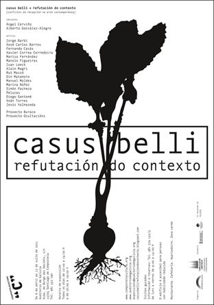 Cartel de la Exposición Casus Belli (uqui)