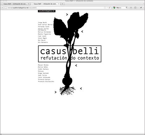 Páxina inicial de Casus Belli (uqui)