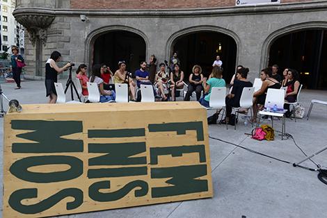 contenedor de feminismos en Bilbao