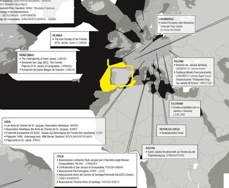 Detalle Asociaciones que acudieron al  Xacobeo  2010 (uqui)