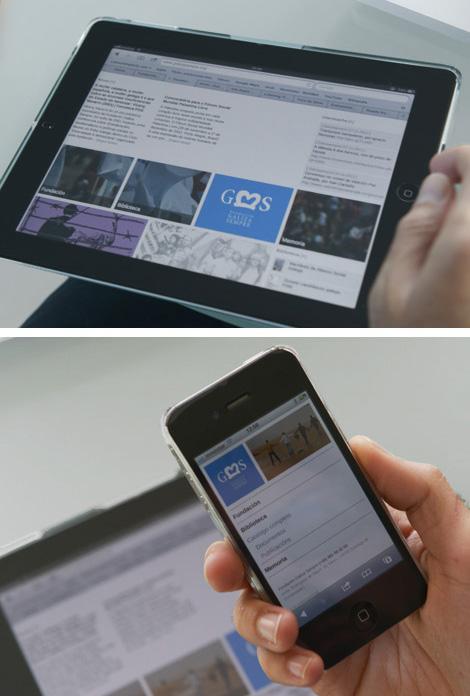 Páxina da Fundación Galiza Sempre en dispositivos móbiles (uqui)