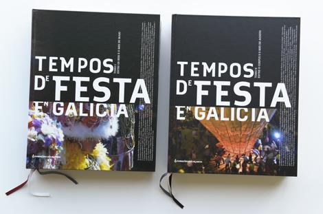 """Portadas da colección """"Tempos de Festa"""" da Novacaixagalicia"""