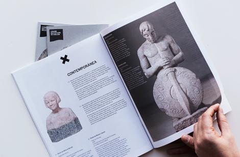 Detalle da guía da exposición Gallaecia Petrea (uqui)