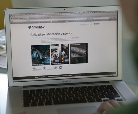 Páxina de inicio de Genesal (uqui)