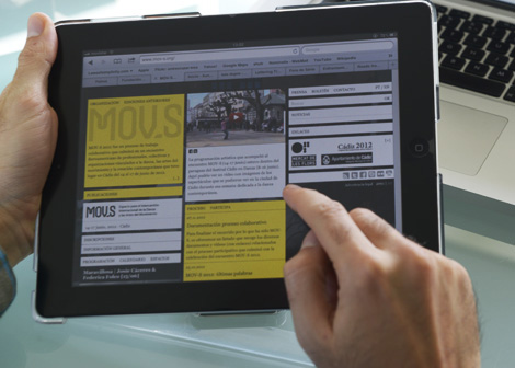 Páxina de MOV-S no iPad (uqui)