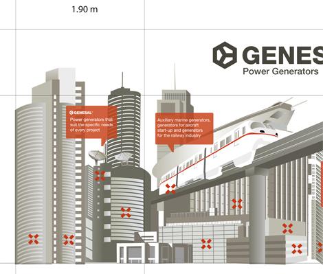 Panel 1 de Genesal para o Stand da Feira de Dubái (uqui)