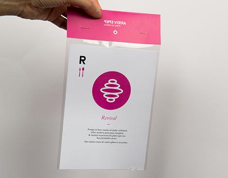 Packaging de carta de menú de Pepe Vieira, por Uqui.net