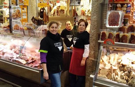 Praza de Abastos - 25N Compostela en Negro - Uqui.net