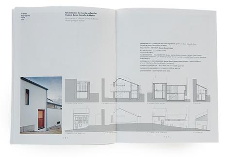 "Páxinas do catálogo dos Premios de Arquitectura ""Rodríguez Peña"" (uqui)"