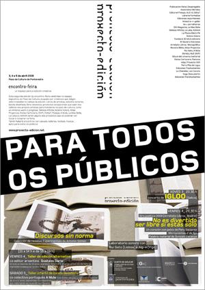 Programa (portada) da Feira do Proxecto-Edición (uqui)