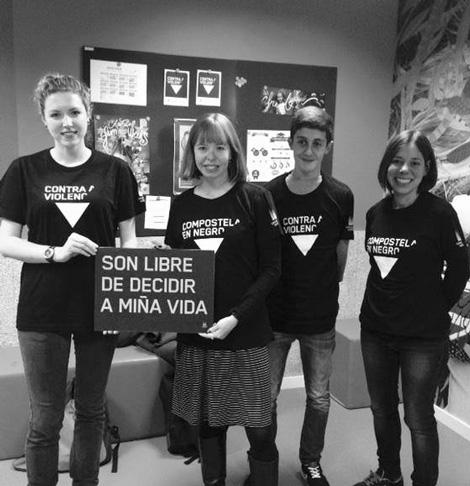 Voluntarias - 25N Compostela en Negro - Uqui.net