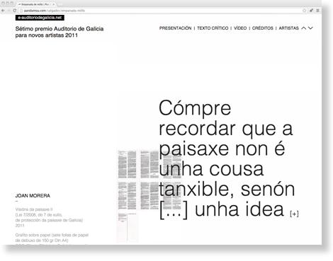 web e-auditorio de galicia, por uqui.net
